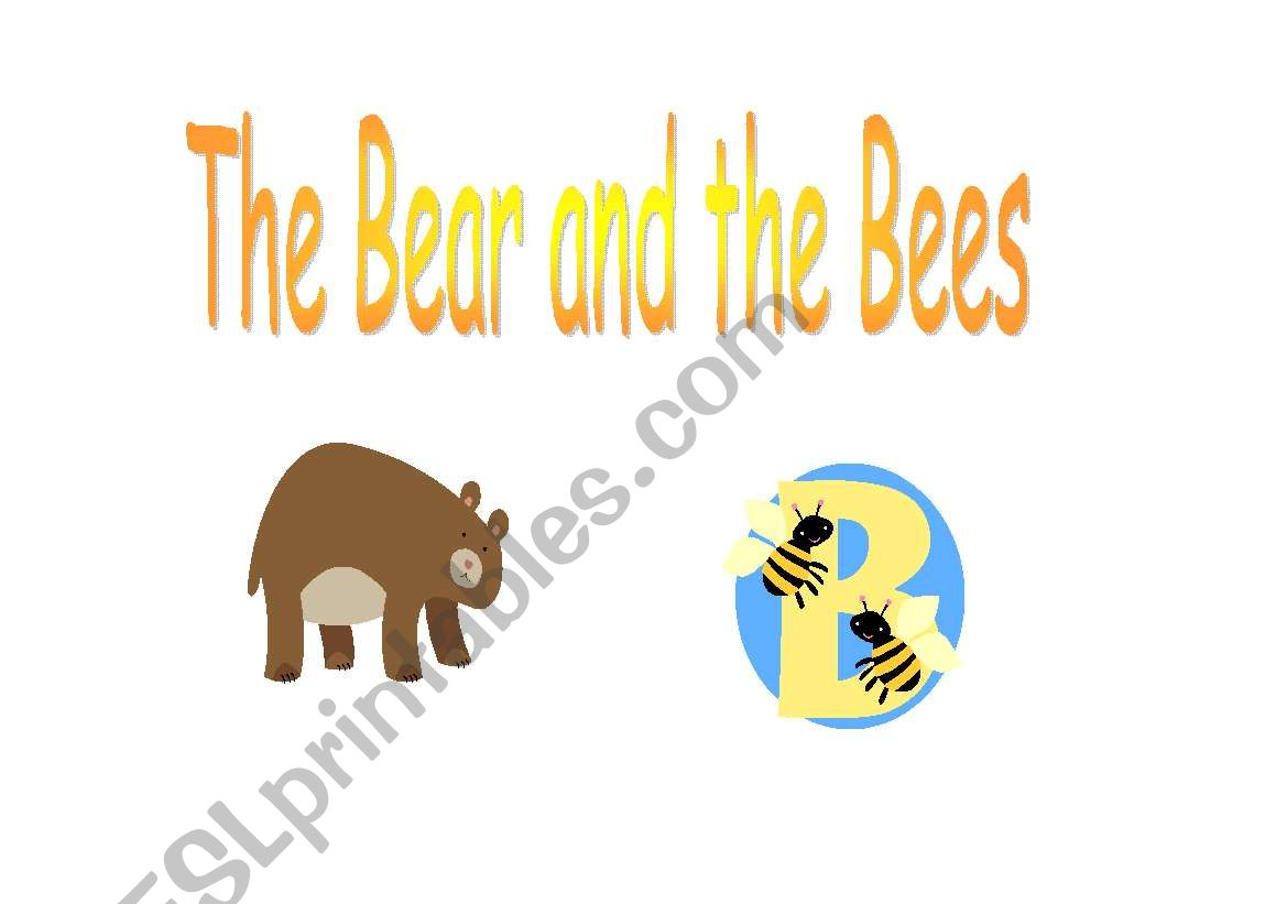 The bear and the bees worksheet