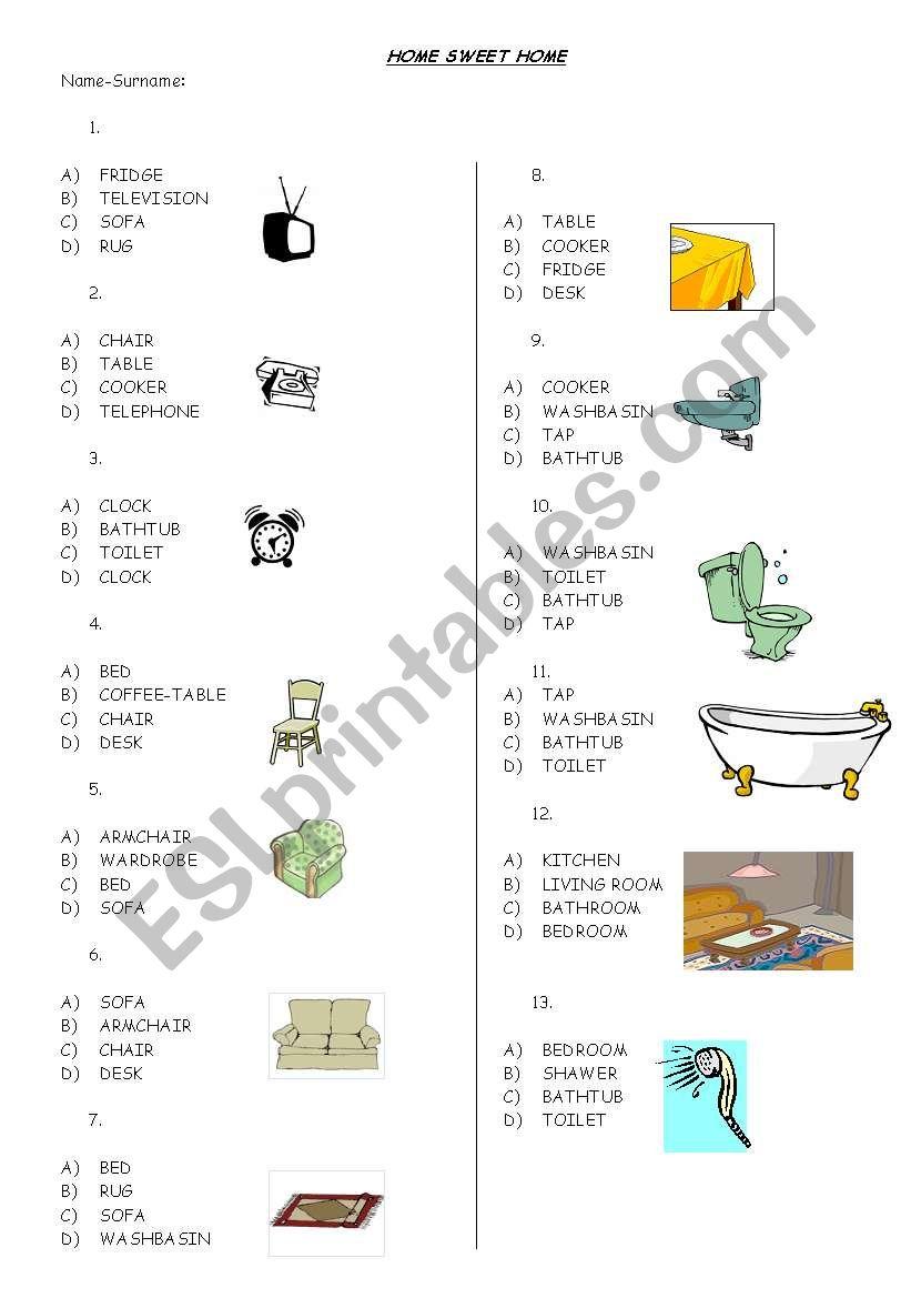 home sweet home (part 1) worksheet