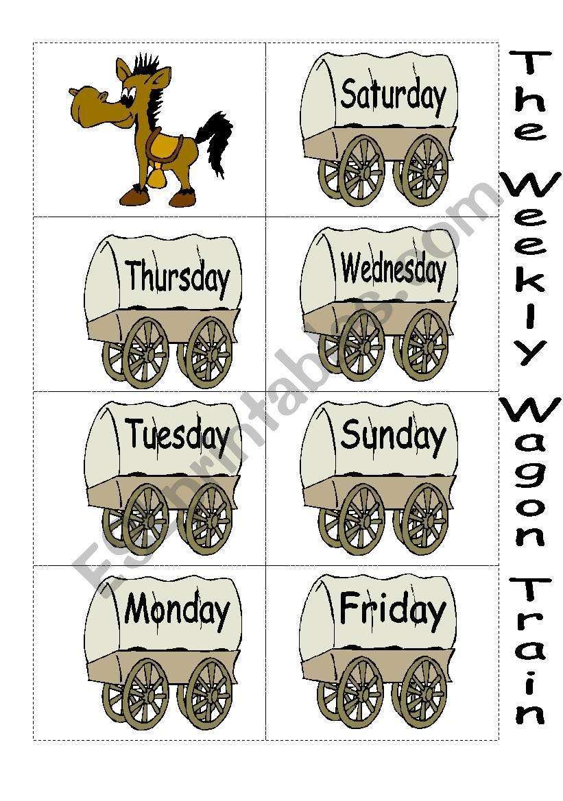 The Weekly Wagon Train worksheet