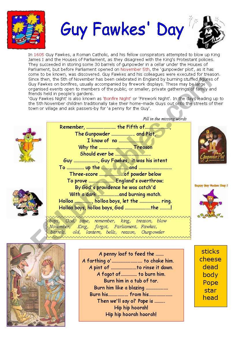 GUY FAWKES´ DAY worksheet