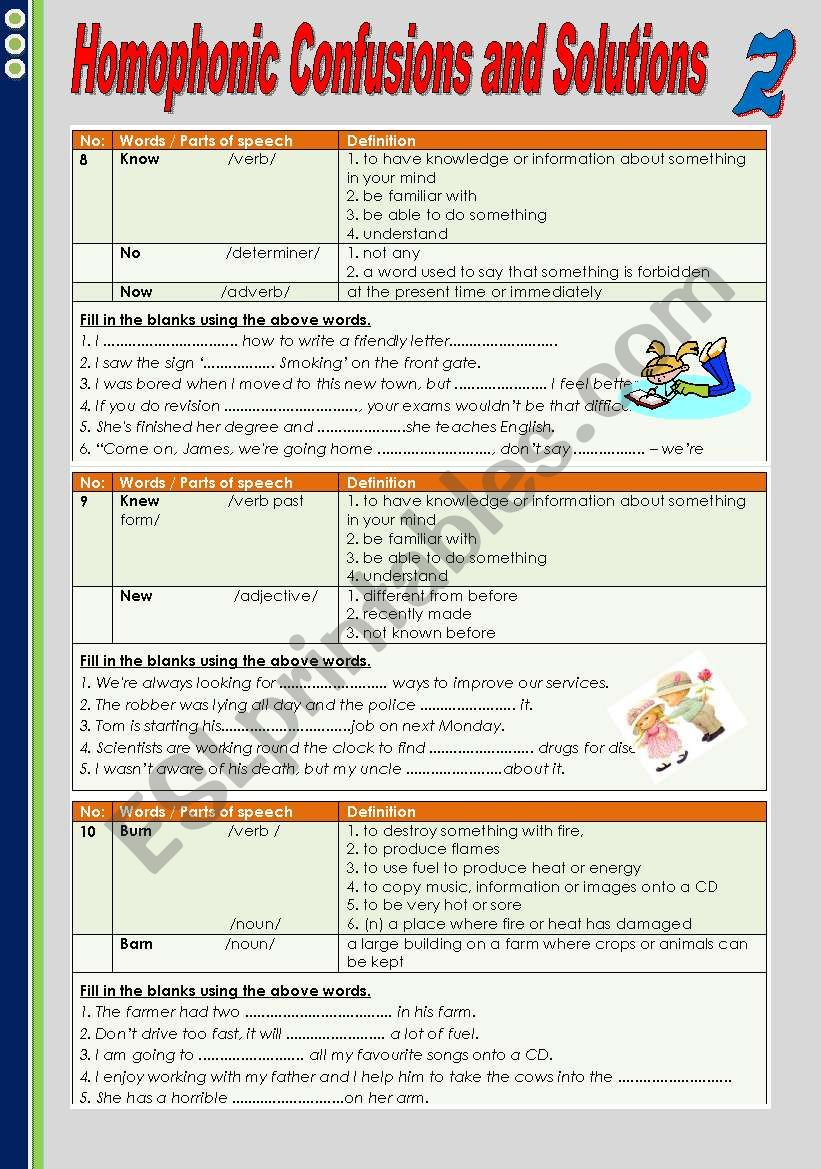 Homophonic Confusions and Solutions 2