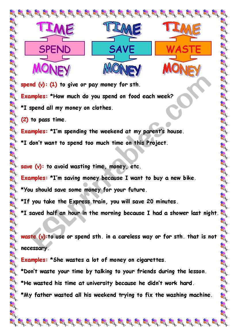 spend_save_waste worksheet