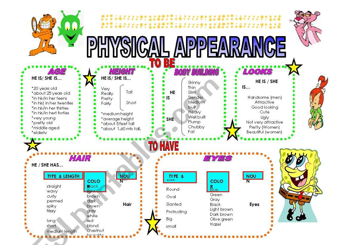 physical appearance guide!! =D