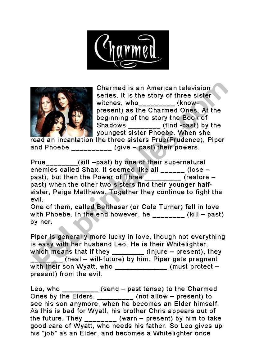 The Charmed Passive Voice worksheet