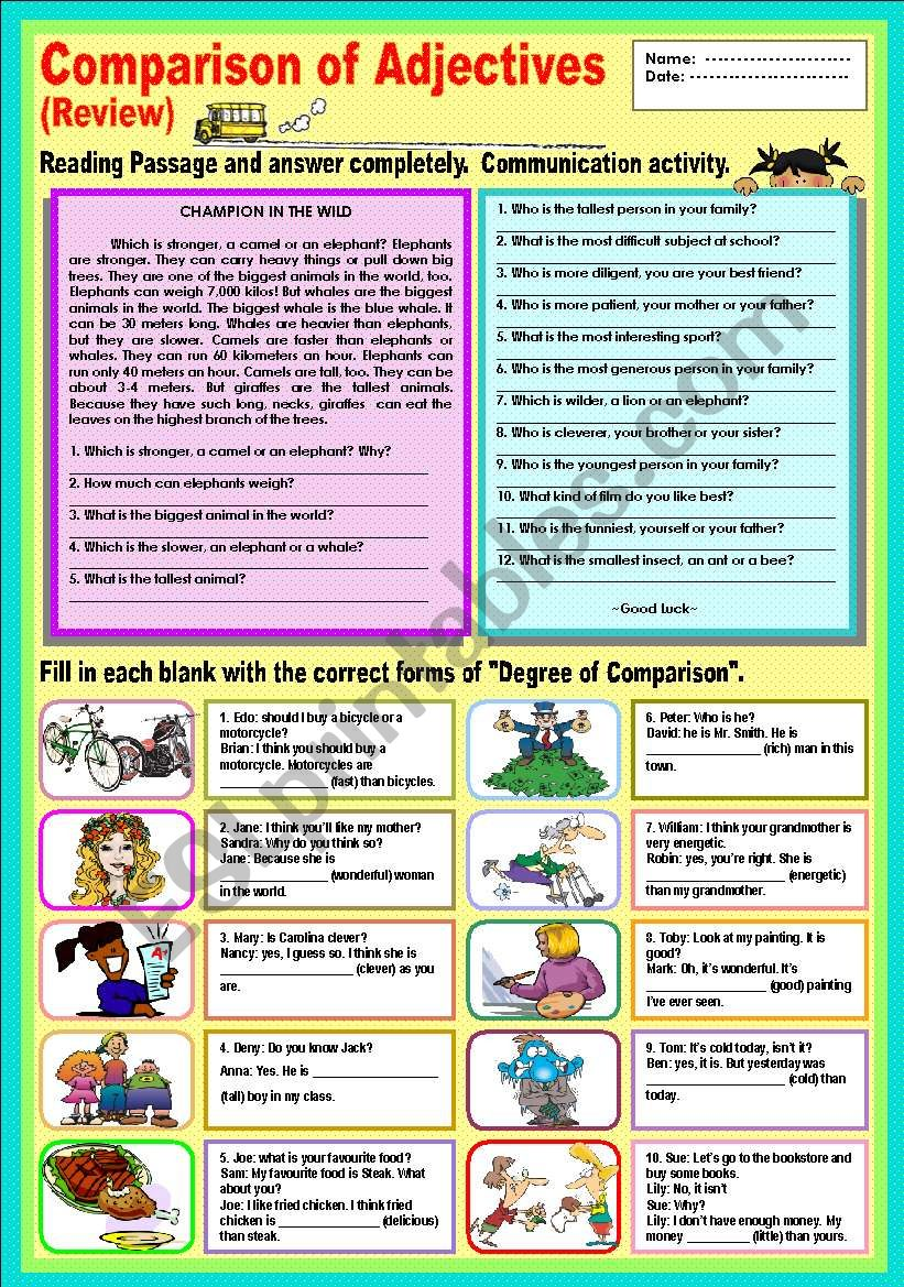 Comparison of adjectives  (Review)