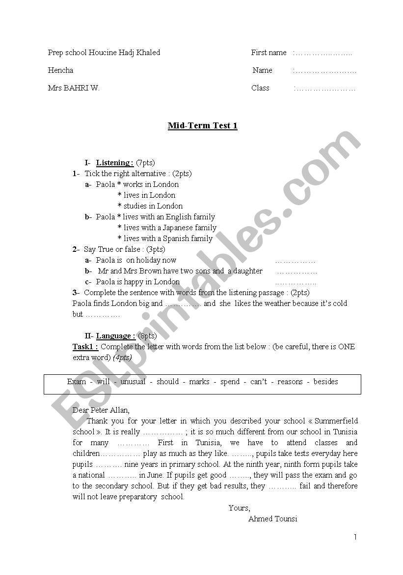 test2 worksheet