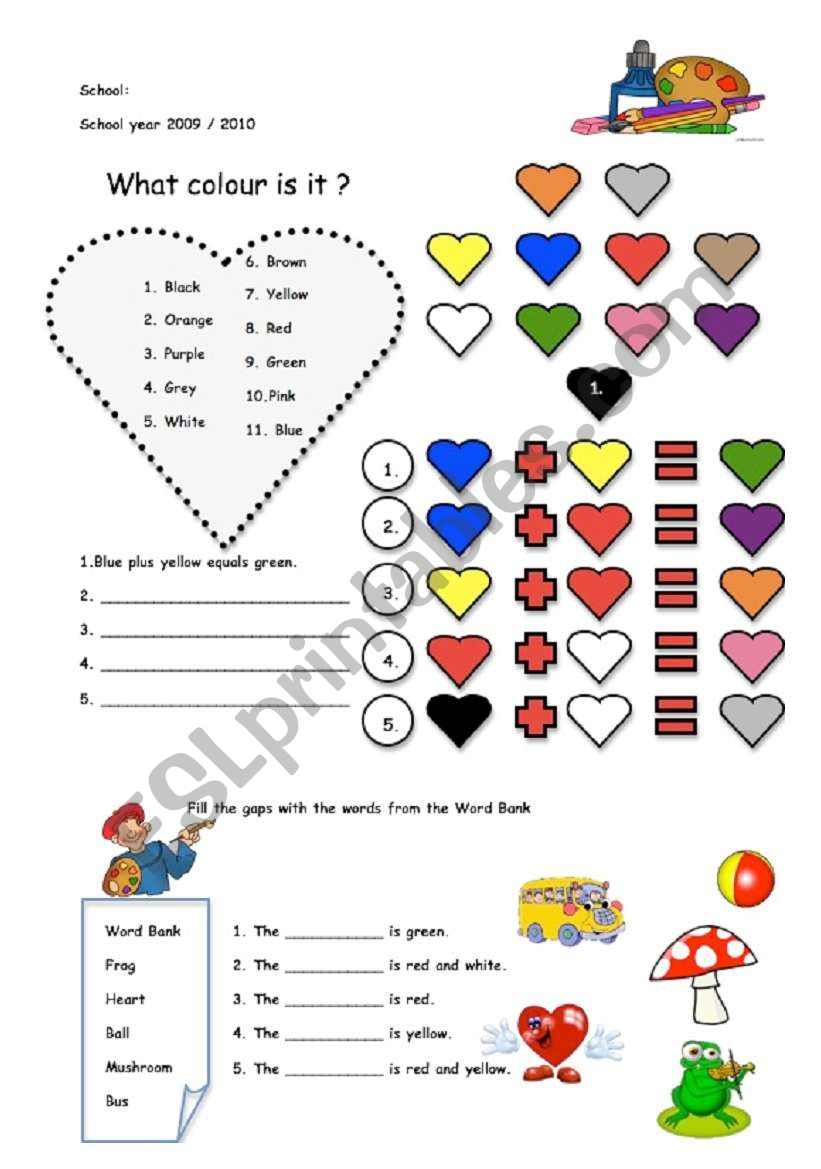 What colour is it? worksheet