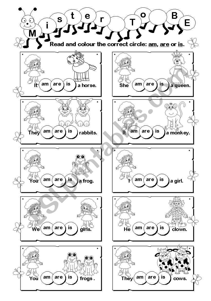 Mister ´To Be´ (1/4) worksheet