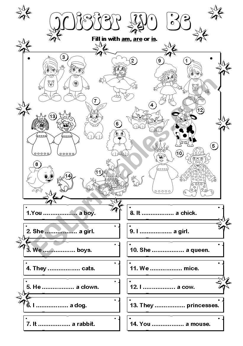 Mister ´To Be´ (2/4) worksheet