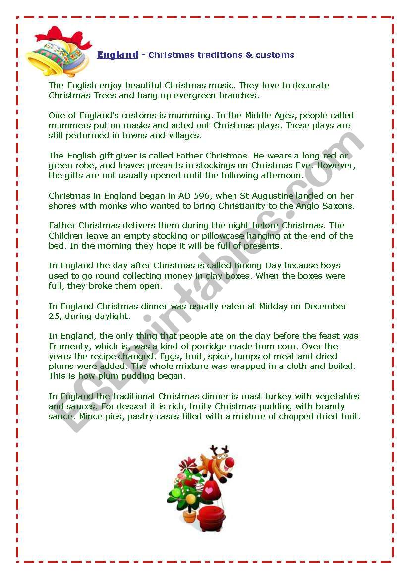 England - Christmas traditions&customs
