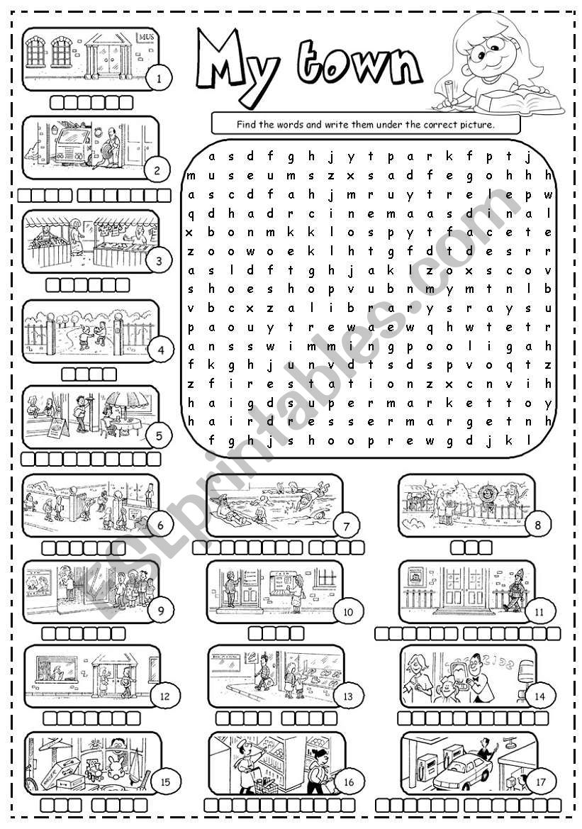 Places in town (1/3) worksheet