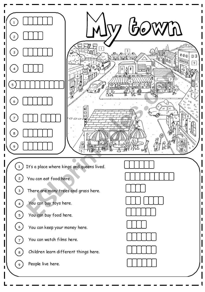 Places in town (2/3) worksheet