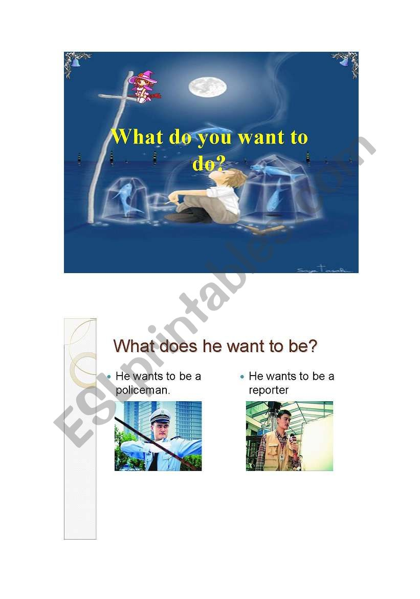 What do you want to be ? worksheet