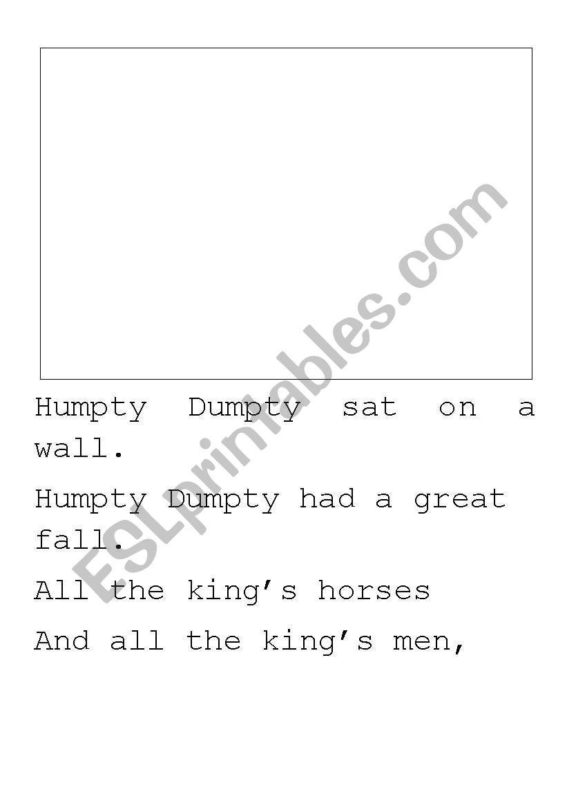 Humpty Dumpty writing paper worksheet