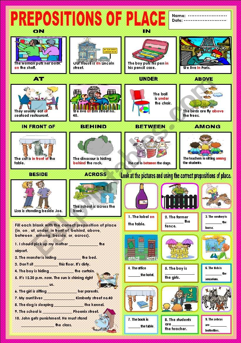 Preposition In Learn In Marathi All Complate: On, In,At, Under, Above, In Front