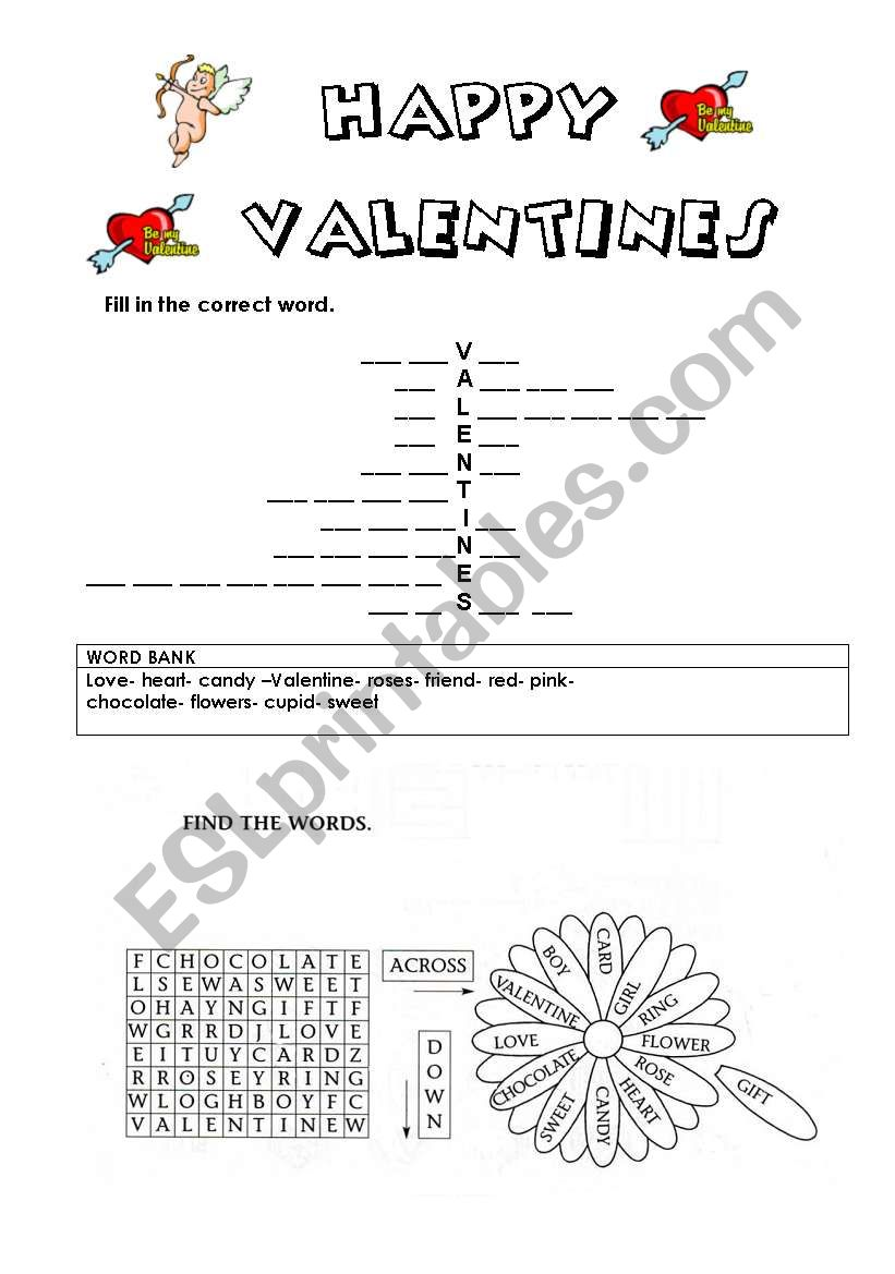 HappyValentines worksheet