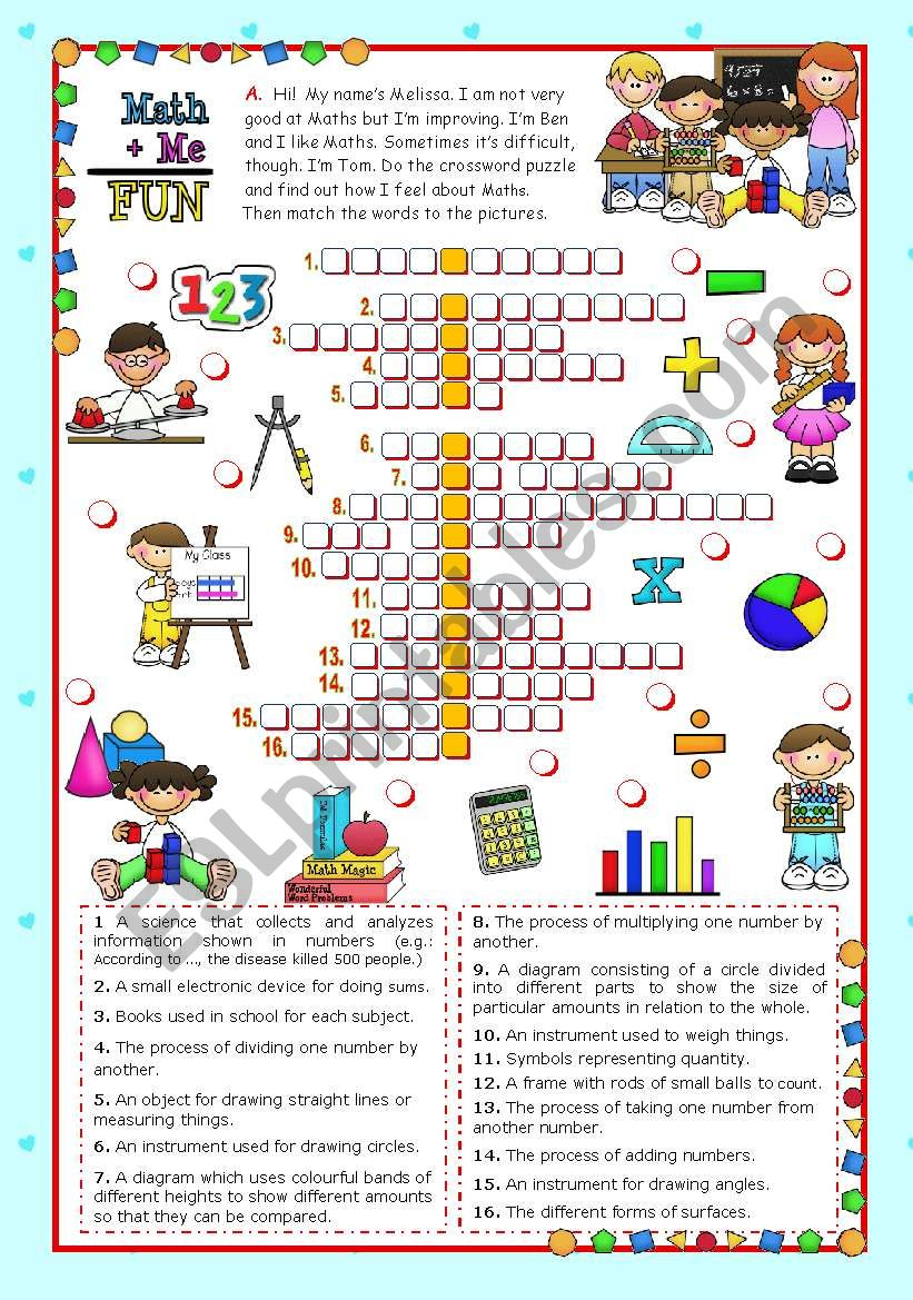 Classroom objects and symbols Set (2) - Vocabulary related to Mathematics