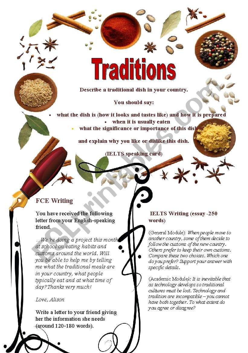 Traditions (Part 2/3). Prepare for Exams: IELTS and FCE