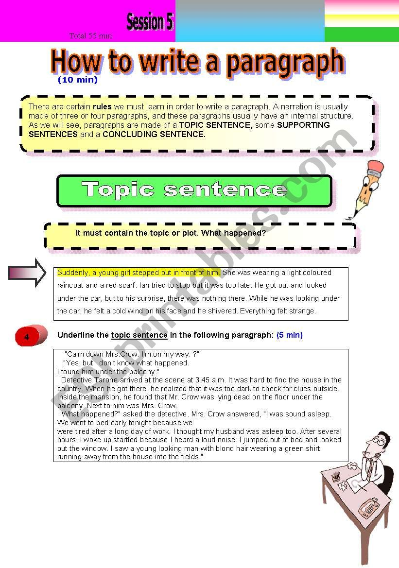 How To Write A Paragraph Esl Worksheet By Lasmer