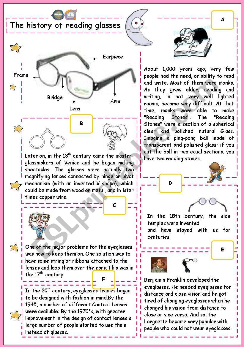 The history of reading glasses
