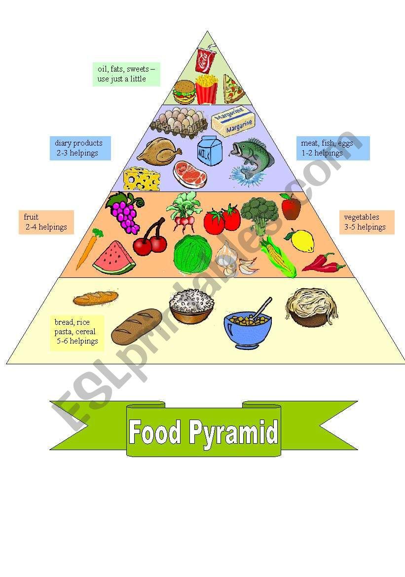 FOOD PYRAMID + worksheet worksheet