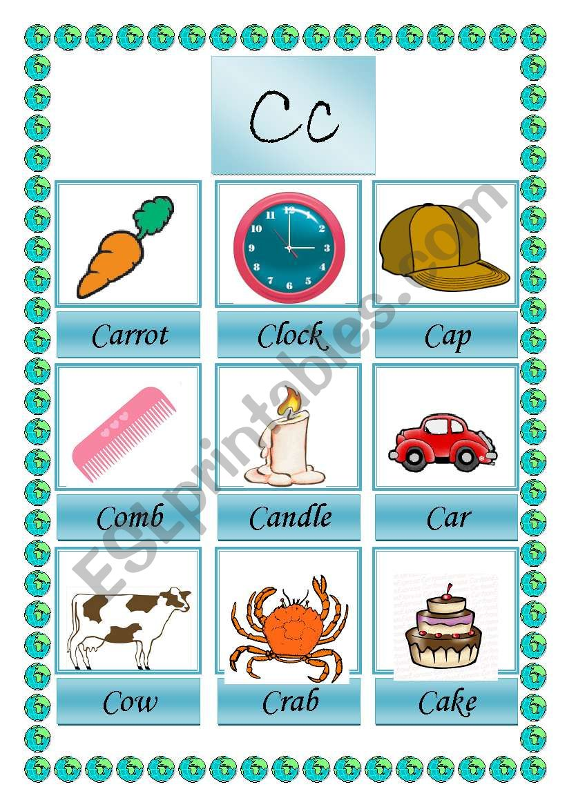 picture dictionary C 1-2 worksheet