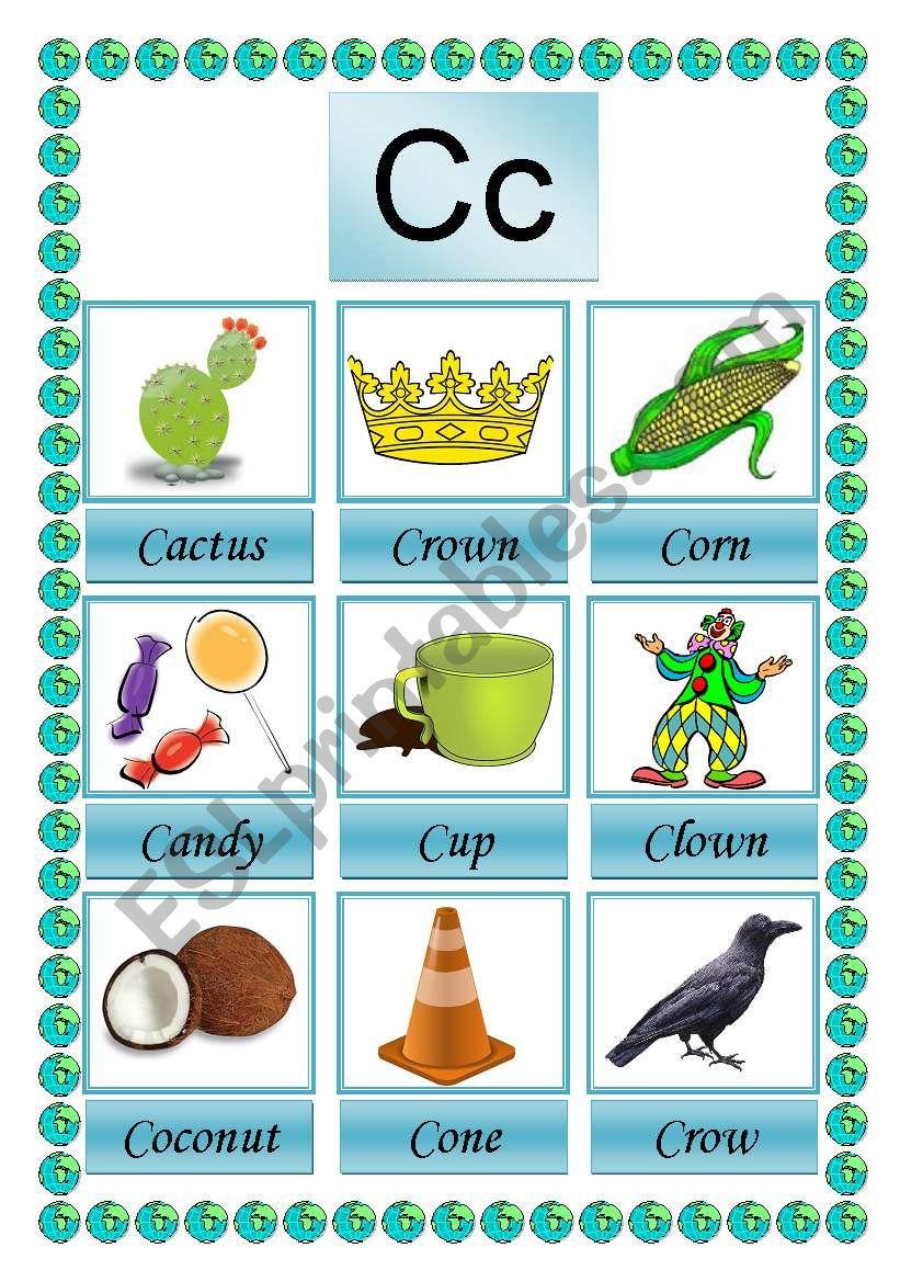 picture dictioary C 2-2 worksheet