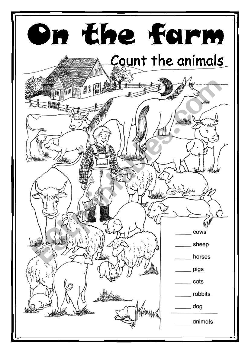 On the farm - Count the animals