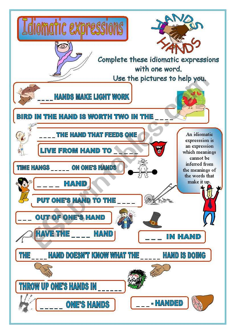 Idiomatic expressions - HANDS -