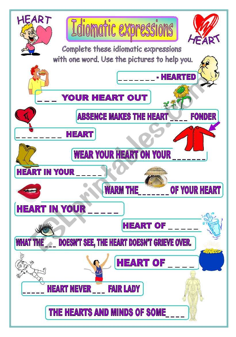 Idiomatic expressions - HEART -