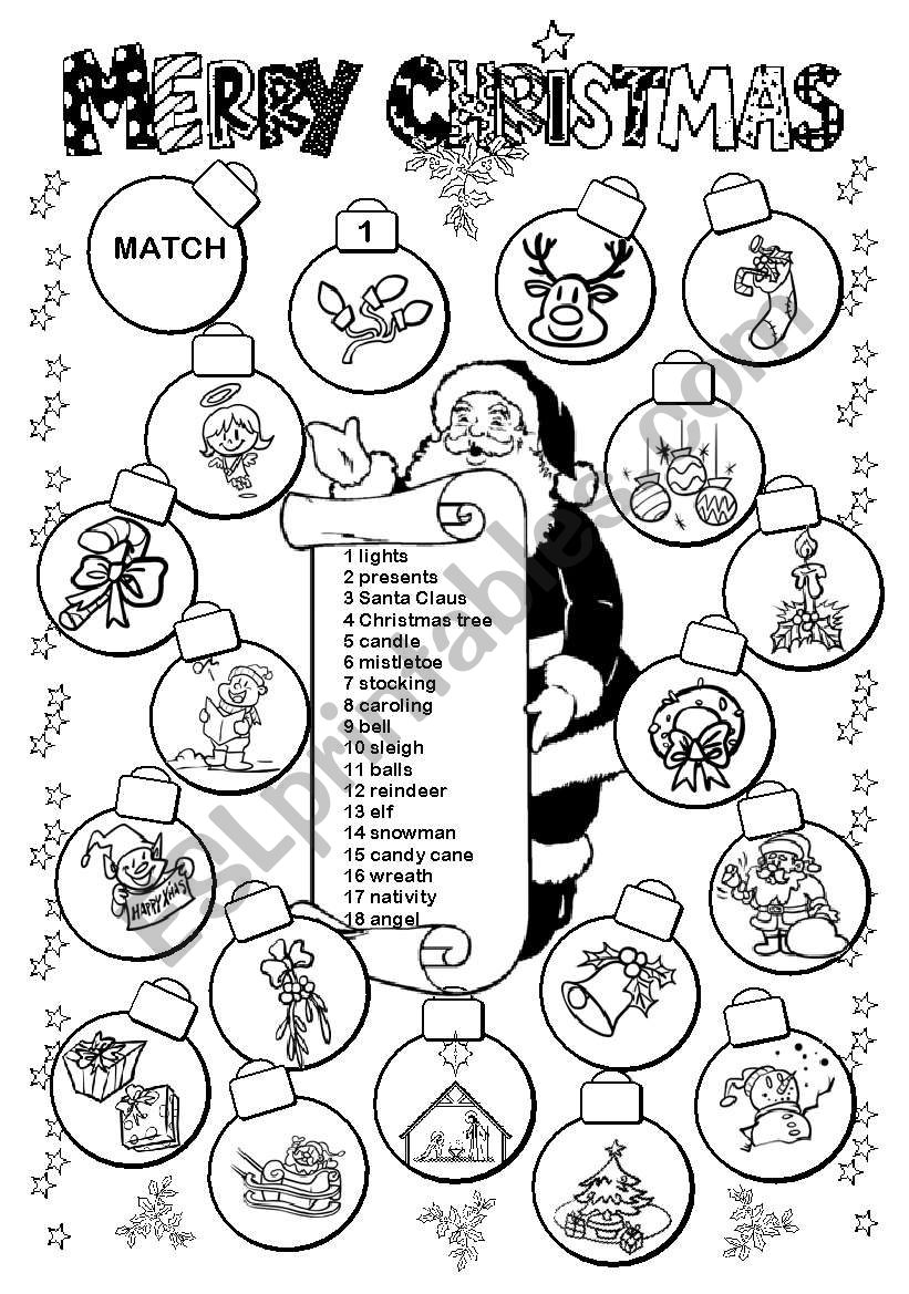 14+ Esl Printables Christmas Worksheet You Will Like