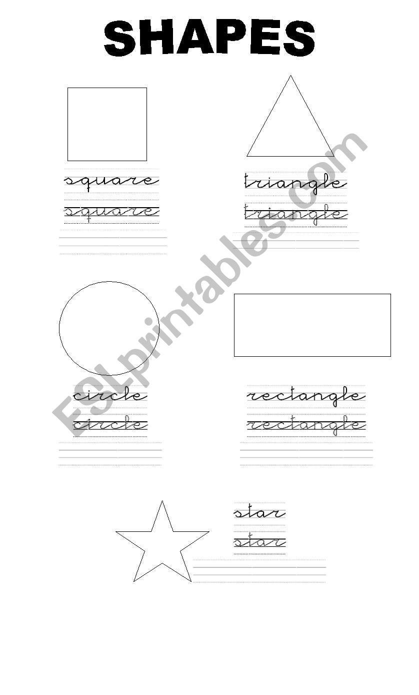 shapes esl worksheet by paufran. Black Bedroom Furniture Sets. Home Design Ideas