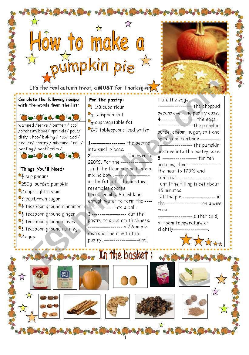 How to make a pumpkin pie : a real autumn treat