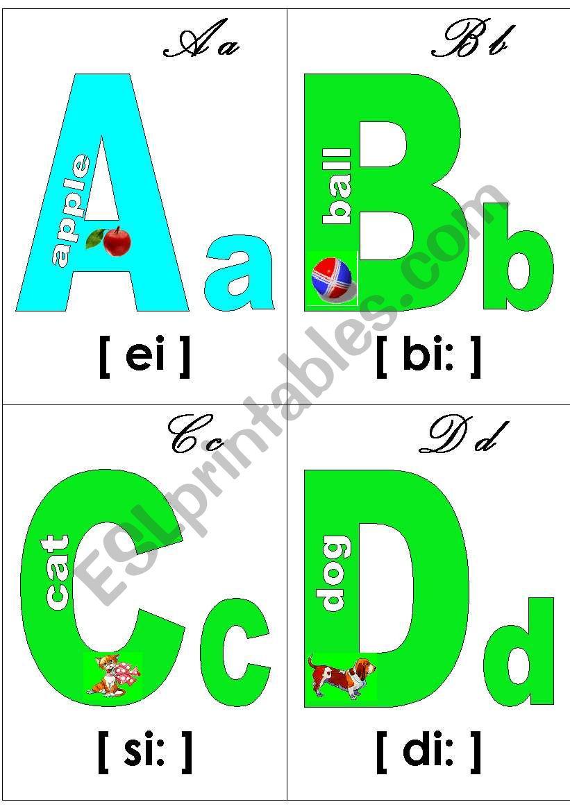 Alphabet  poster worksheet
