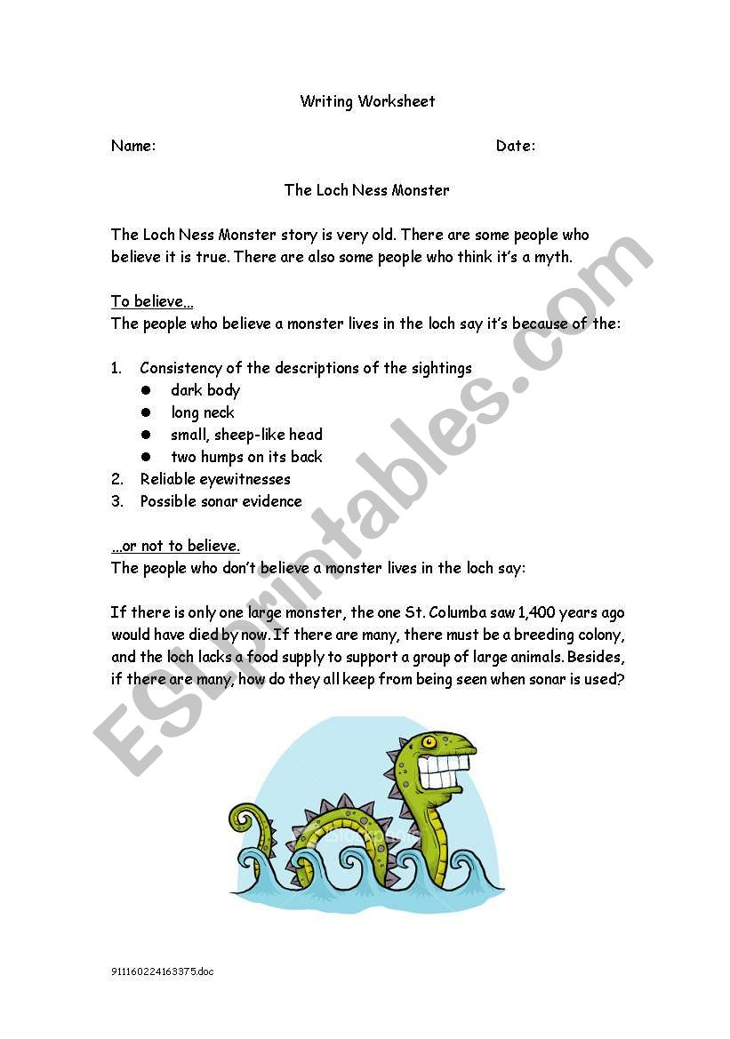 Myths and the Loch Ness Monster