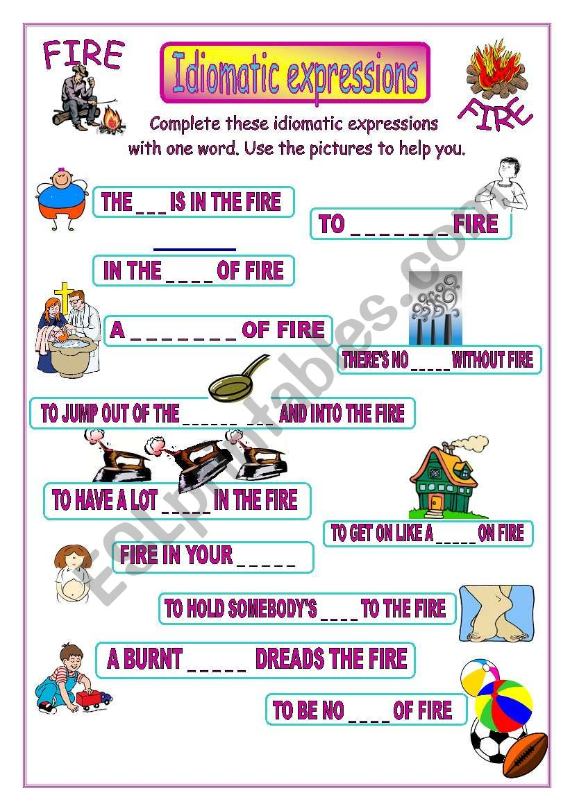 Idiomatic expressions - FIRE -