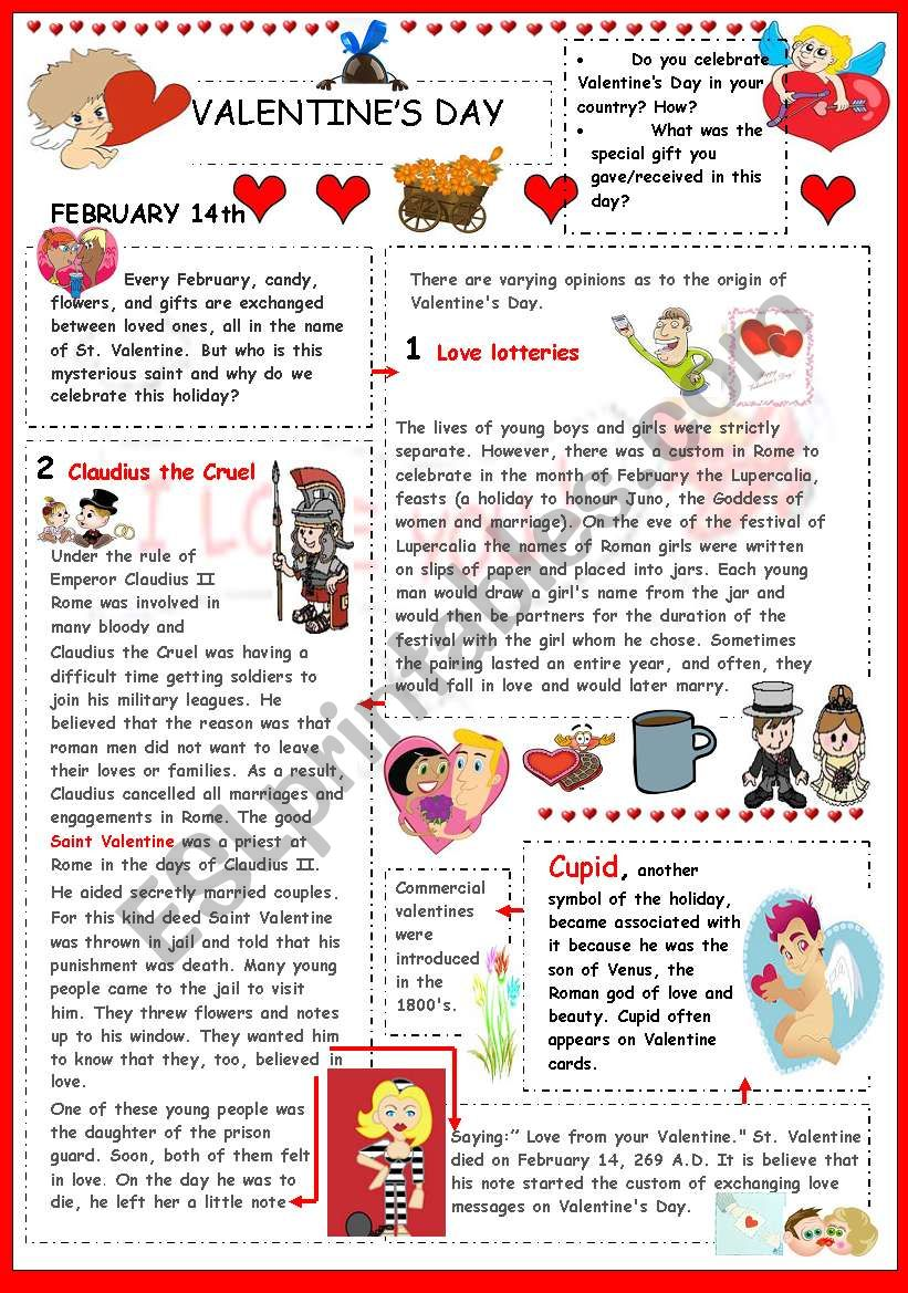 Valentine´s day worksheet