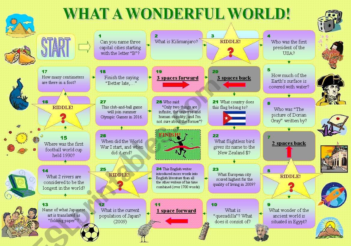 What a wonderful world! worksheet