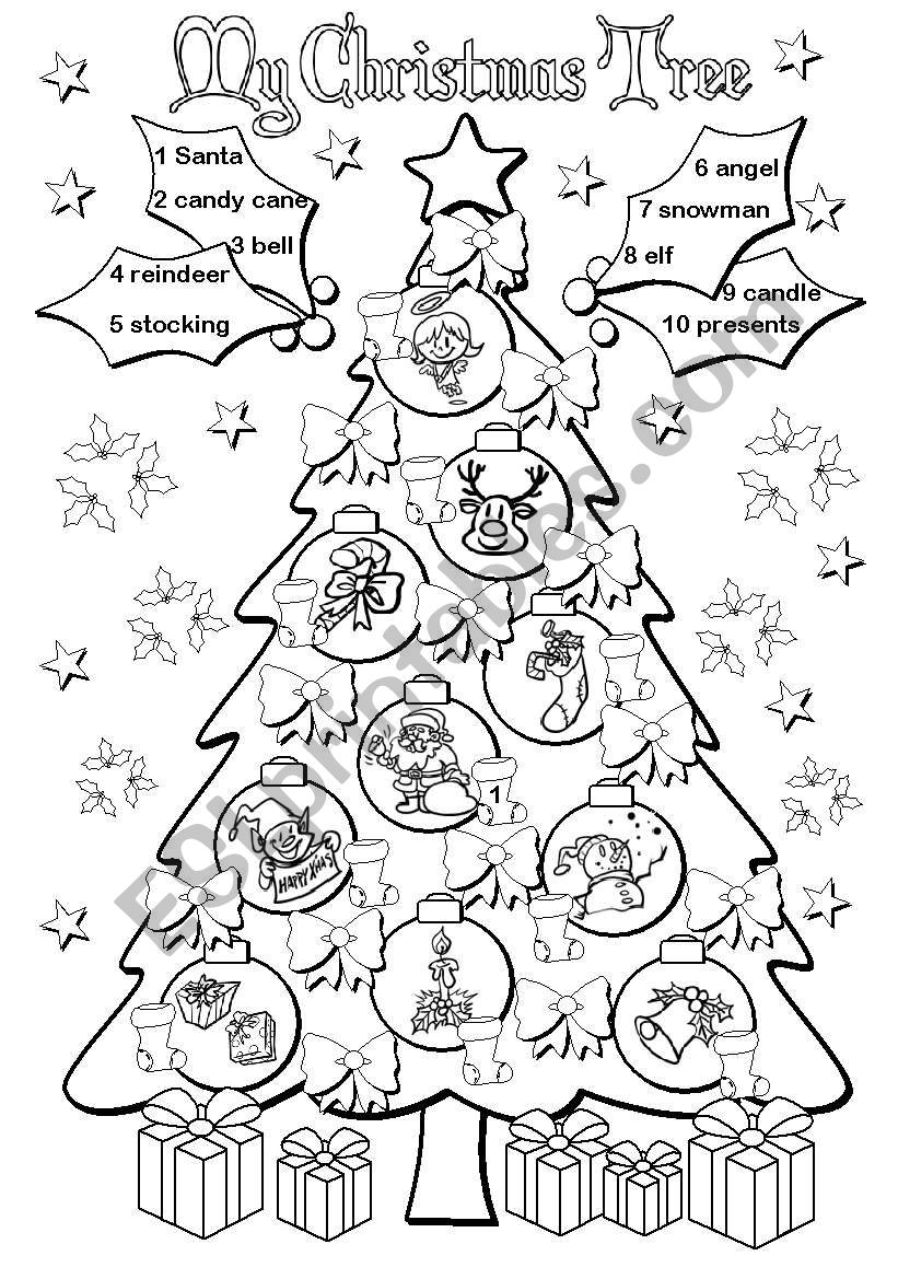 My Christmas Tree worksheet