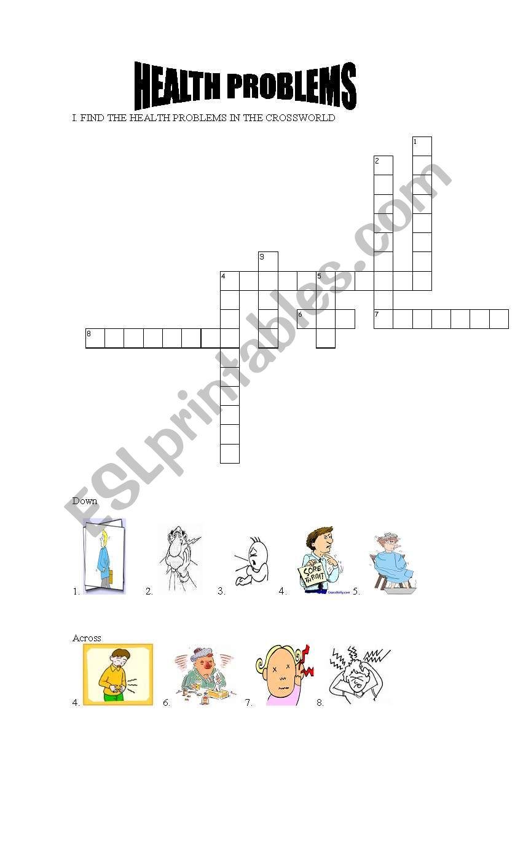 HEALTH PROBLEMS worksheet