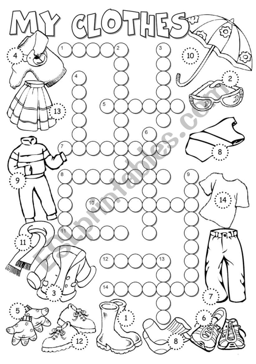 My Clothes 2 worksheet