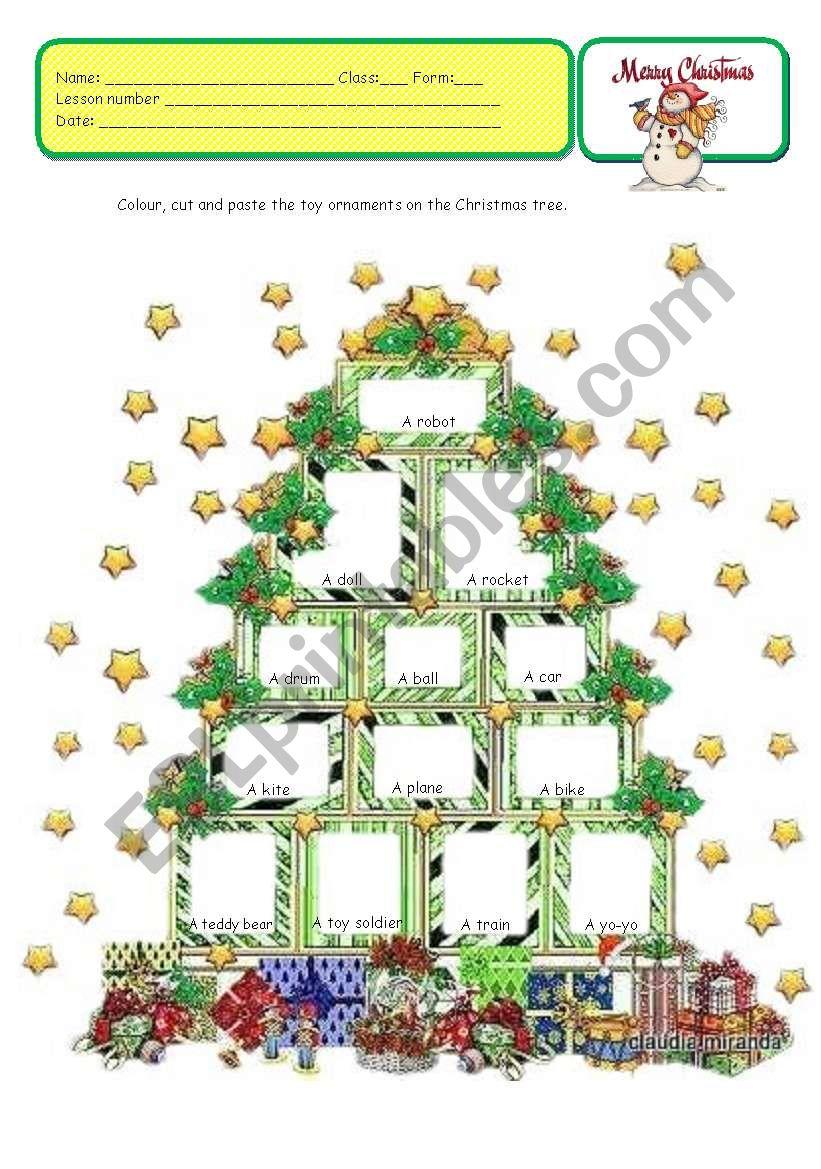 CHRISTMAS TOY TREE worksheet