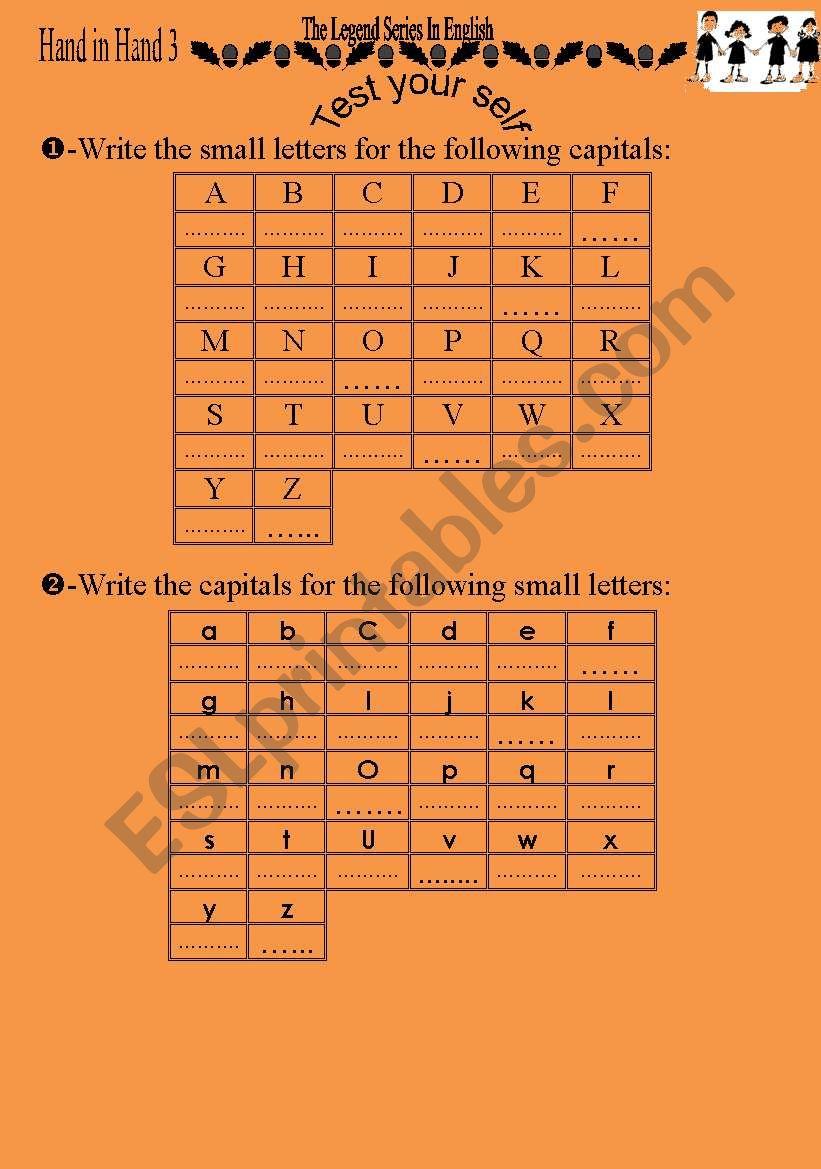 the english alphabet 3 pages - ESL worksheet by simsimsimsim