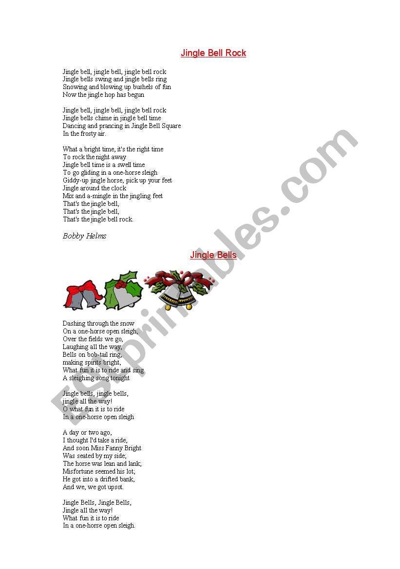 Christmas songs - ESL worksheet by nicola
