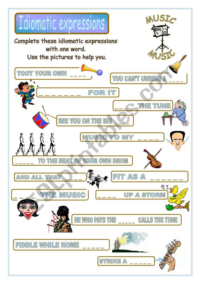 Idiomatic expressions - MUSIC -