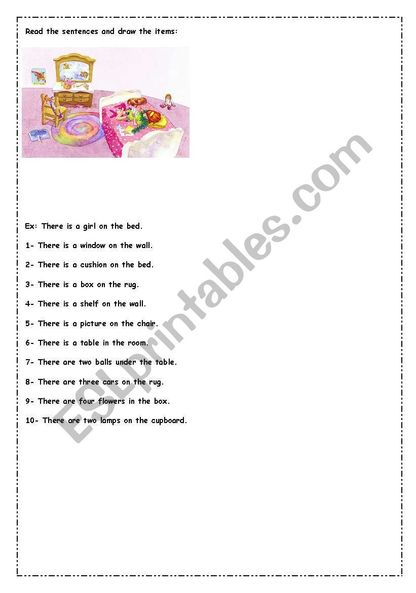 read and draw worksheet