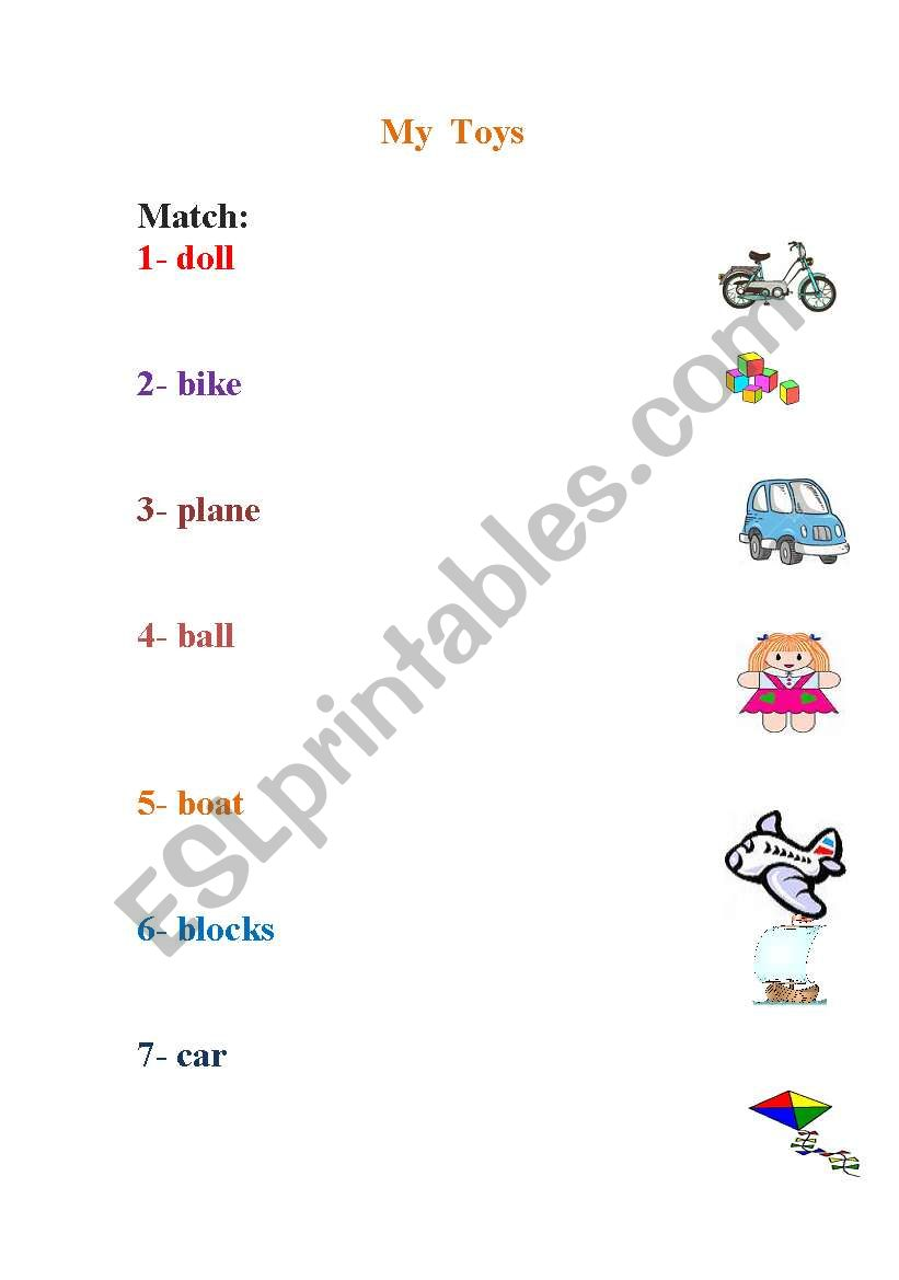 My TOYS worksheet