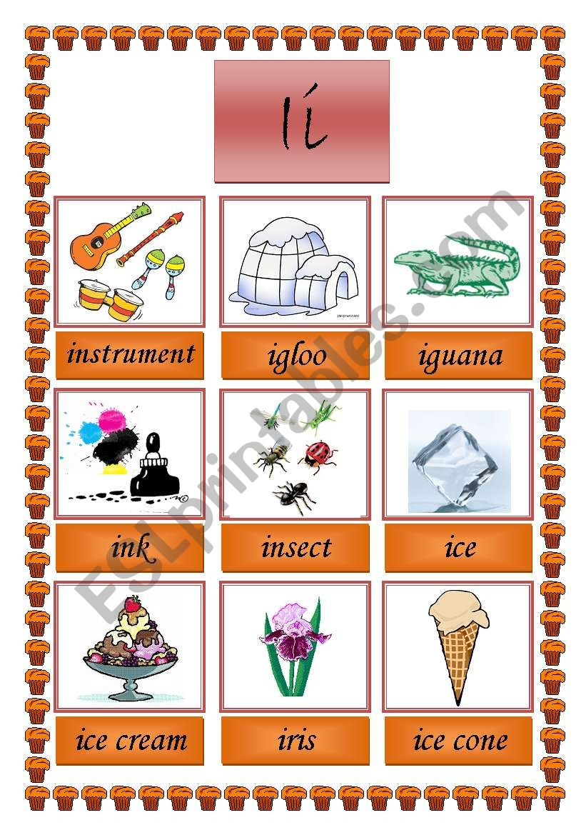 picture dictionary (I) worksheet