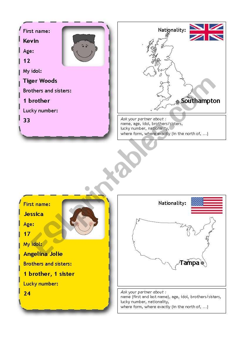 people flashcards 9 (from 12) worksheet