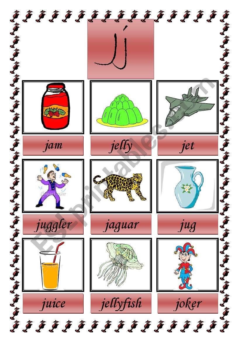picture dictionary (J) worksheet
